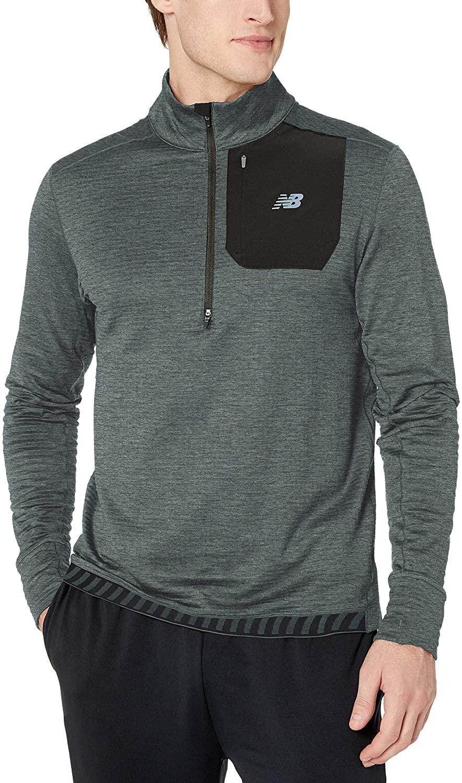 New Balance NB Heat Quarter Zip - Camiseta Hombre talla L.
