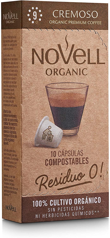 Cafes Novell Cápsulas de Café - Cremoso, 10 Cápsulas, Pack de 8