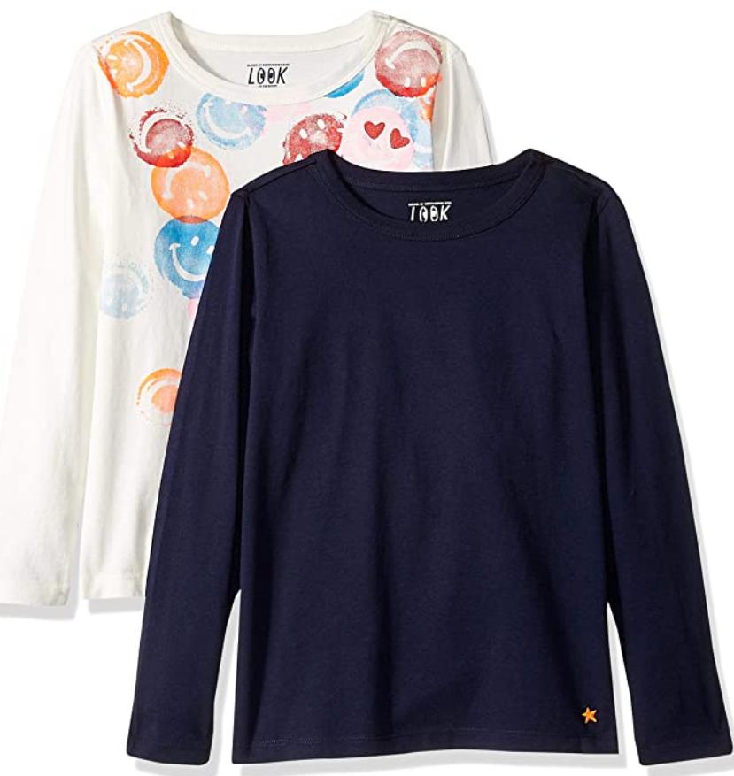 Talla 116 (6-7 Años) (PACK 2) - LOOK by crewcuts Camisetas para Niñas