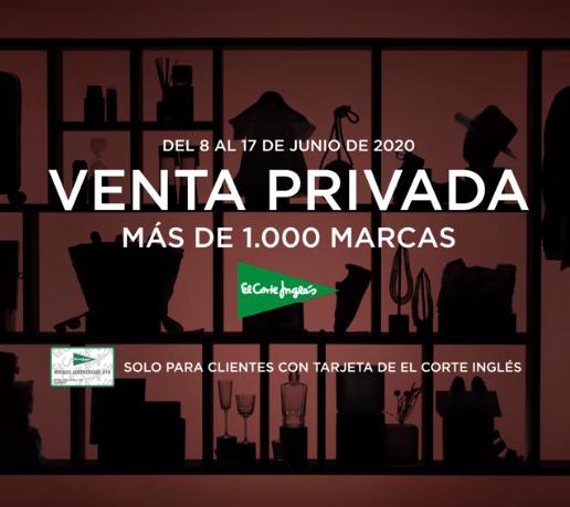 Venta privada para clientes de tarjeta El Corte Inglés