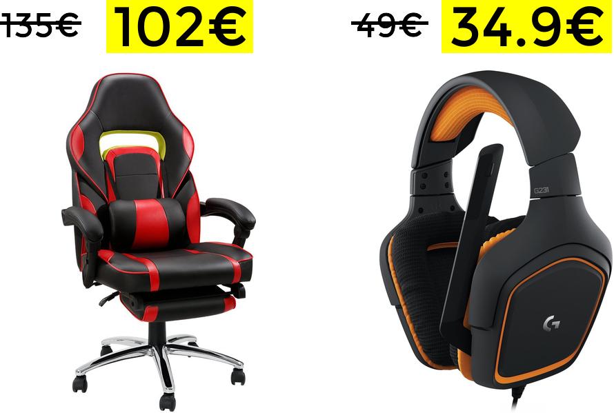 Silla gaming reclinable solo 92€