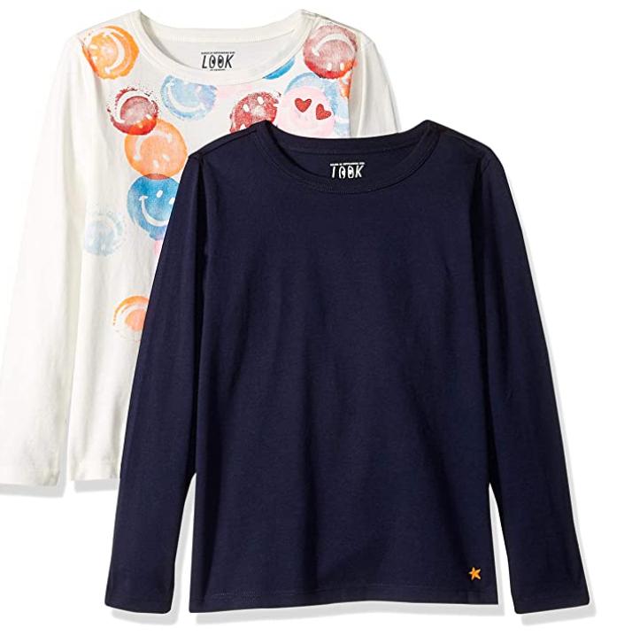 PACK 2 Unidades Camiseta niña talla4/5 100% Alg
