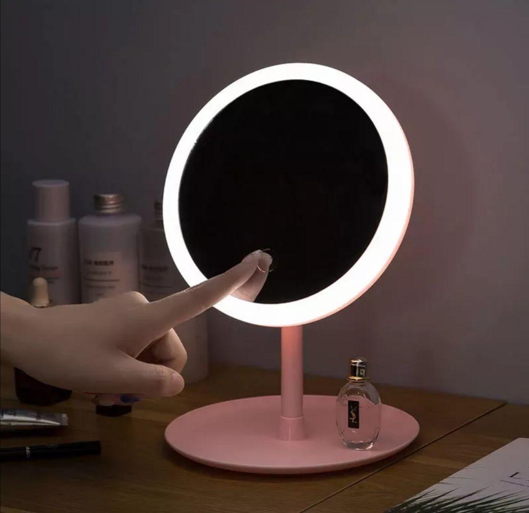 Espejo de maquillaje con lámpara Led, espejo de escritorio para estudiantes, práctico espejo de dormitorio de maquillaje