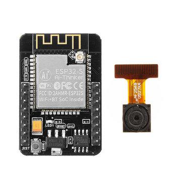 ESP32-CAM WiFi + placa de desarrollo de módulo de cámara bluetooth ESP32 con módulo de cámara OV2640 Geekcreit para Arduino