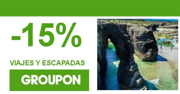 15% de descuento extra en ofertas de viajes y escapadas con Groupon