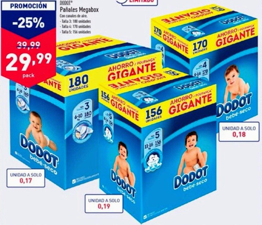 -25% dto. DODOT Megabox y más ofertas en tienda ALDI.