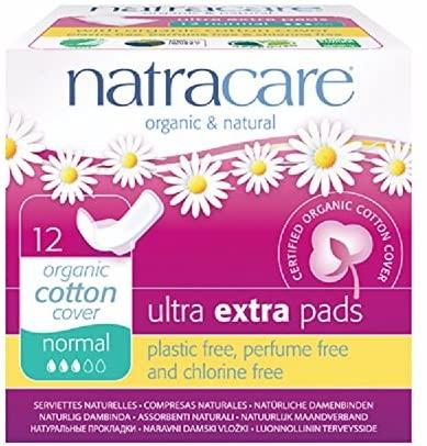 Compresa ultra extra normal con alas bio Natracare 12 uds pack de 6