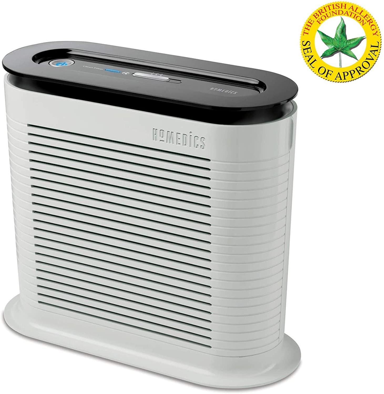 HoMedics AR-10 Ventilador purificador, Mantiene Fresco, Protege del Aire infectado por alergias, 38 W, blanco