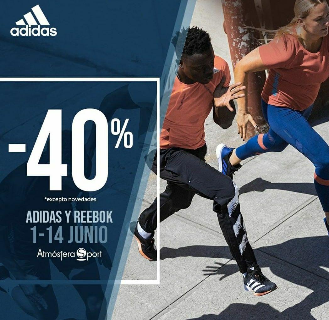Adidas y Reebok - 40% descuento - Atmosferasport
