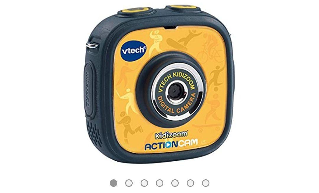 VTech - Kidizoom ActionCam Cámara de Fotos y vídeo para niños, Color Negro/Amarillo