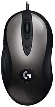 Logitech G MX518 Gaming Mouse HERO Sensor 16,000 Dpi ARM Processor 8 botones programables (Embalaje de Europa Del Este) - Negro