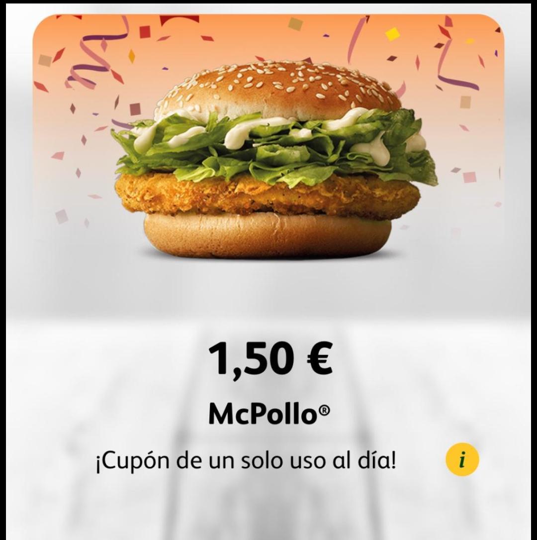 Mc Pollo a 1,5€!!