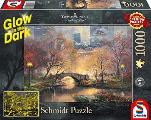 Schmidt puzzle 1000 Piezas, diseño de Central Park en otoño, brilla en la oscuridad