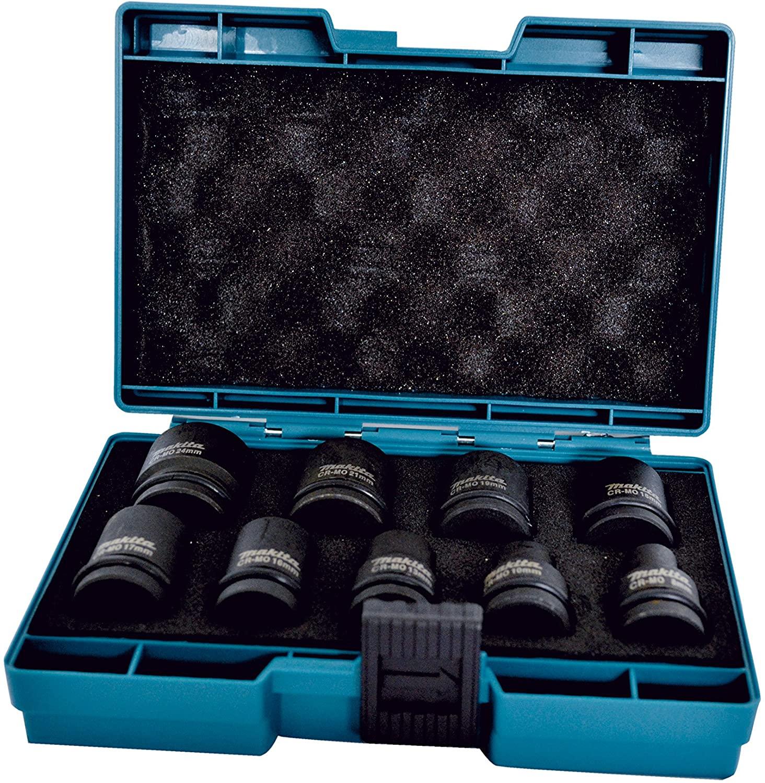 Makita D-41517 - Estuche de llaves de vaso 9 piezas