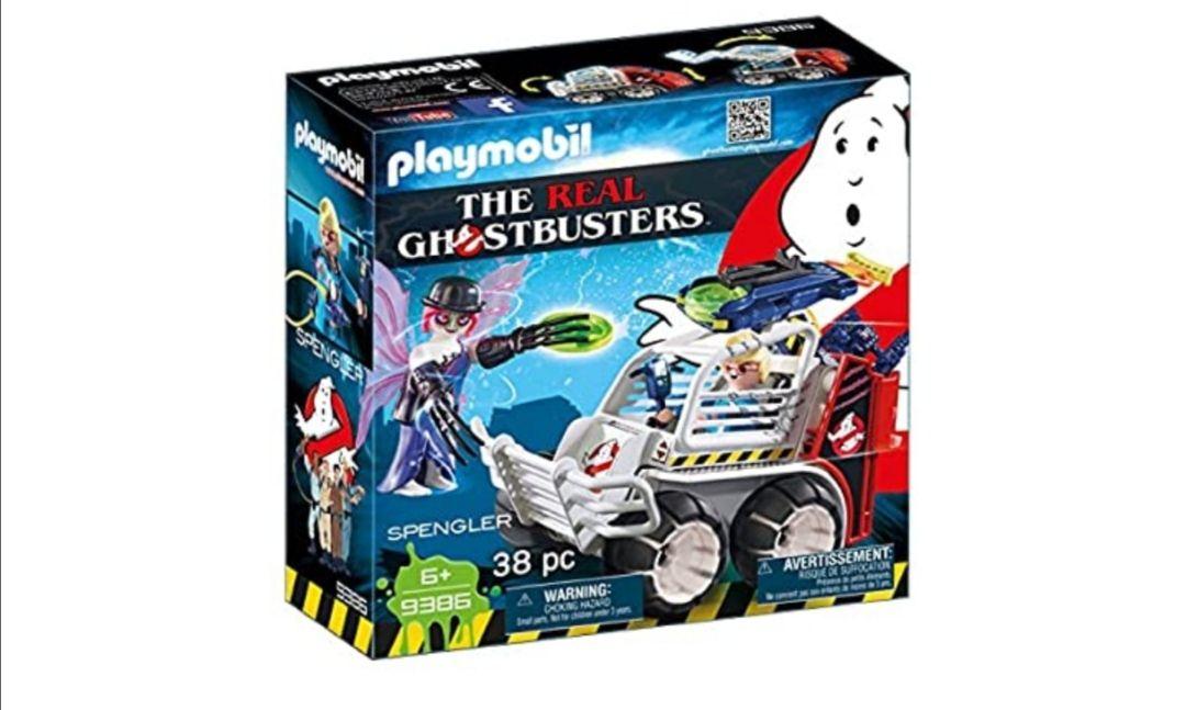 PLAYMOBIL Ghostbusters Spengler con Coche Jaula y Lanzador de Discos