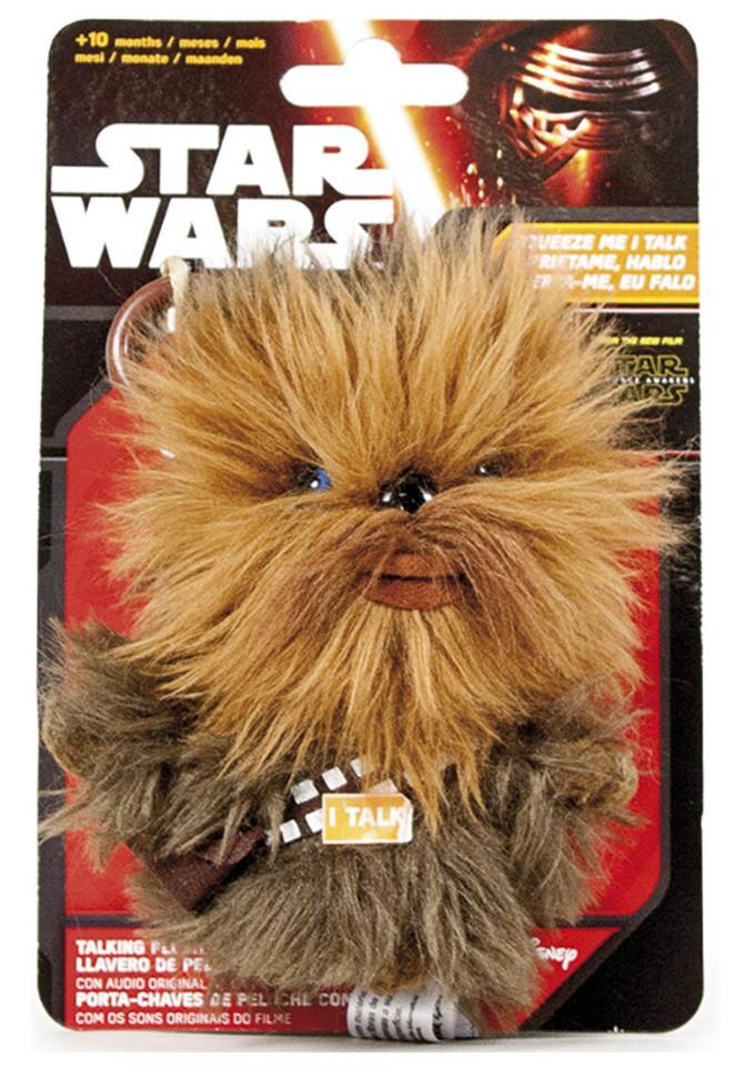 Llaveros de peluche con sonido - 11 cm (personajes de Star Wars surtidos) por sólo 5€
