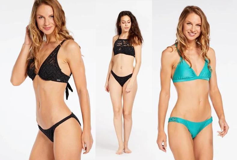 Conjuntos de bikinis con diferentes estampados y colores por 3.99€
