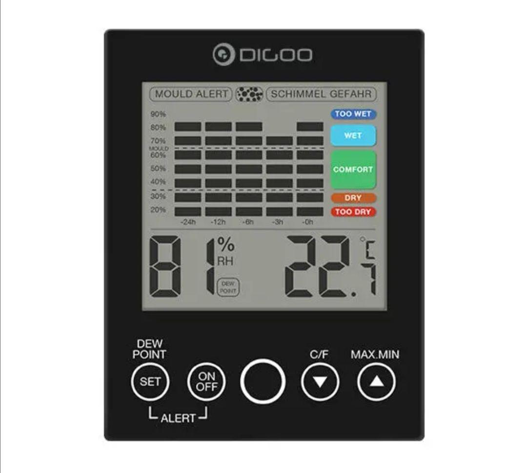 Detector de temperatura y humedad Digoo DG-TH2048