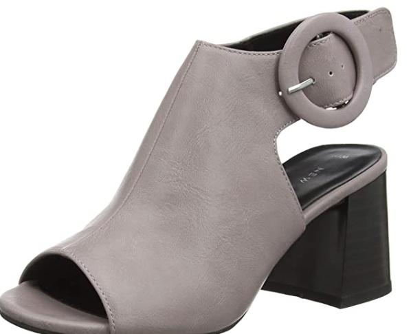 Zapatos con Tacon y Correa de Tobillo T:39