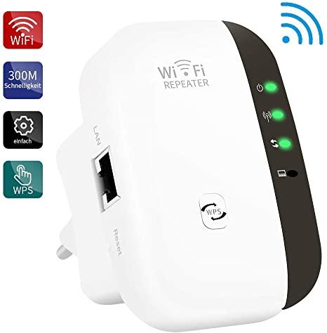 Repetidor WiFi, 300Mbps Extensor WiFi, Amplificador WiFi 2.4GHz con Repertidor/Ap Modo y función WPS