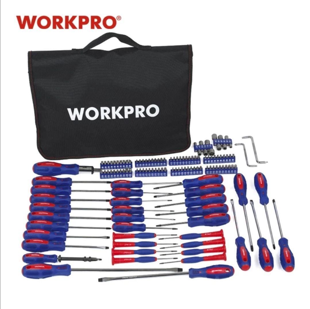 Kit de destornilladores 130 piezas WorkPro