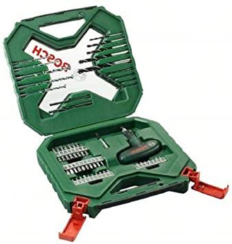 Bosch Home and Garden 2 607 010 610 Bosch X-Line - Maletín de 54 unidades para taladrar y atornillar, 0 W, 0 V, Verde, Rojo, Set Piezas