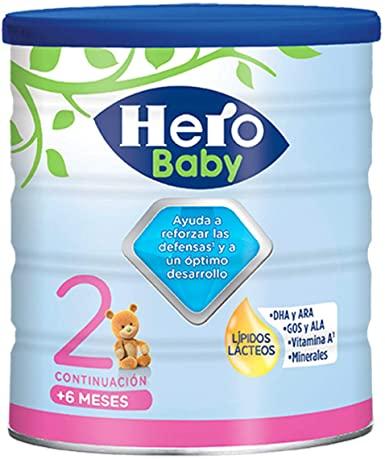 Hero Baby - Leche Nutrasense 2 - 6 A 12 meses 800 gr