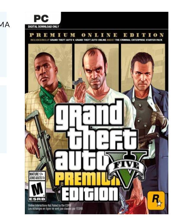Grand Theft Auto V 5 (GTA 5): Premium Online Edition PC