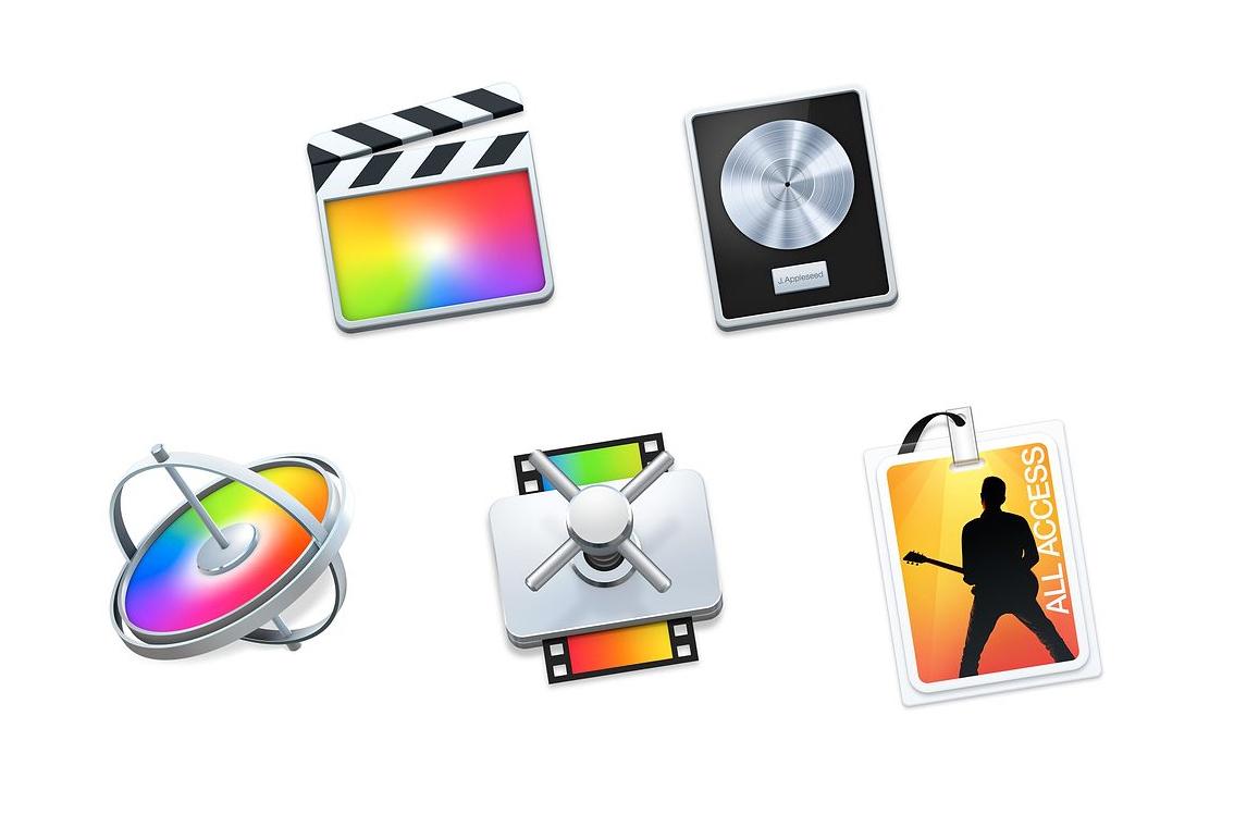 Para estudiantes: Final Cut Pro X, Motion 5, Compressor 4, Logic Pro X, MainStage 3
