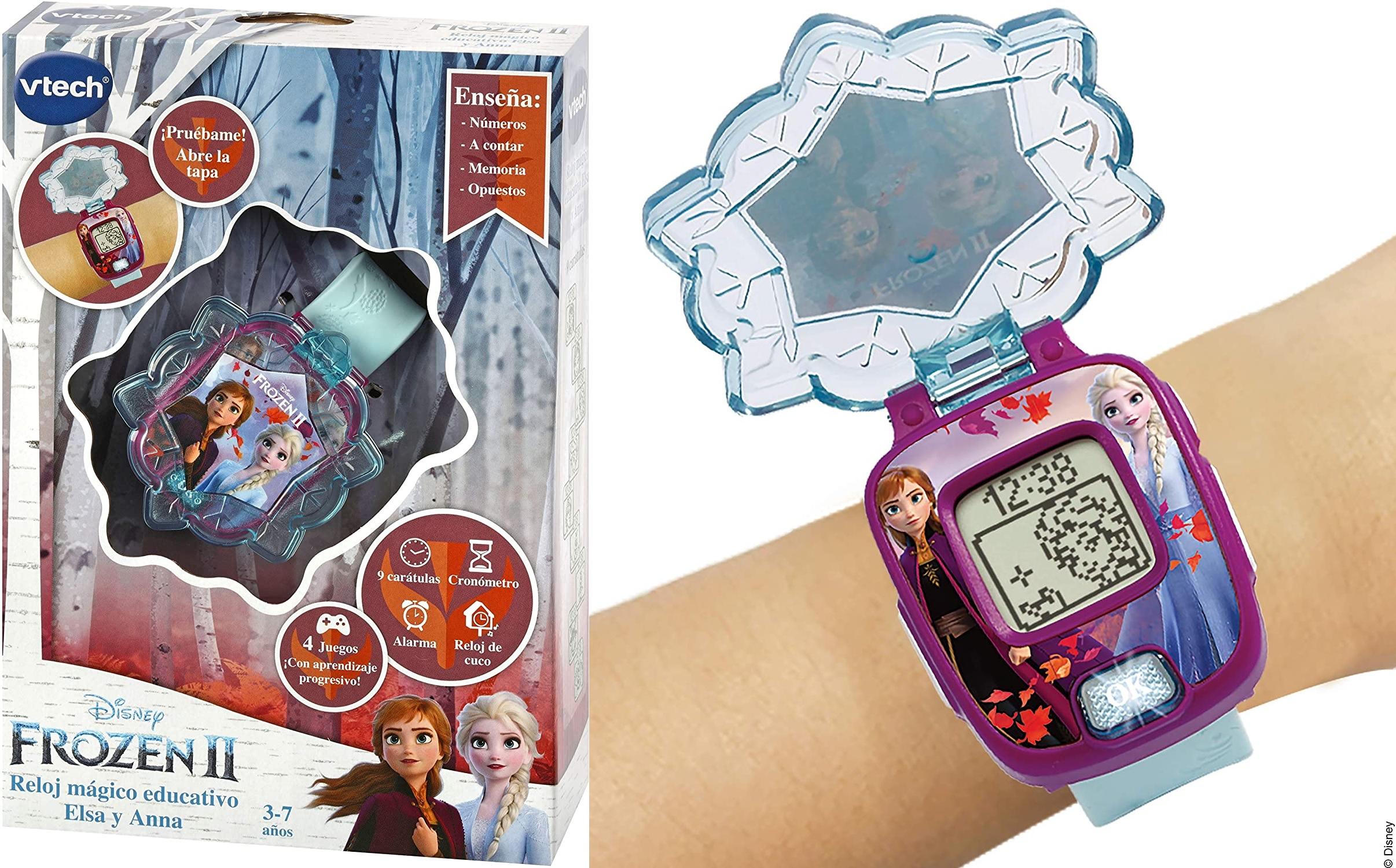 Frozen 2 Reloj Digital Anna y Elsa (REACOs Como NUEVO 42u)