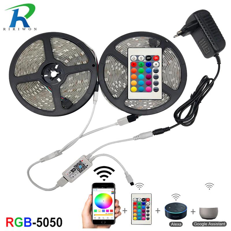 Tira LED smd 5050 + control Wi-Fi+ cargador