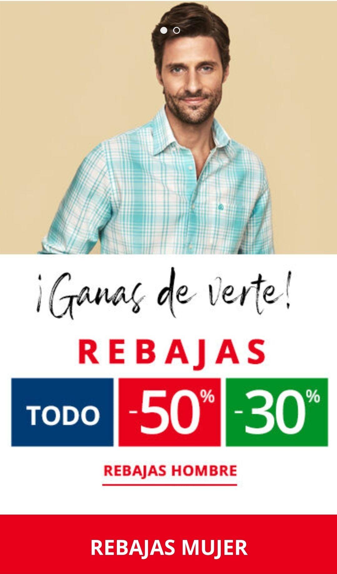 50% Cortefiel / Pedro del Hierro Hombre y Mujer