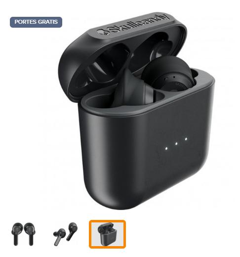 Skullcandy Indy Black - Auriculares inalámbricos (Embalaje B)