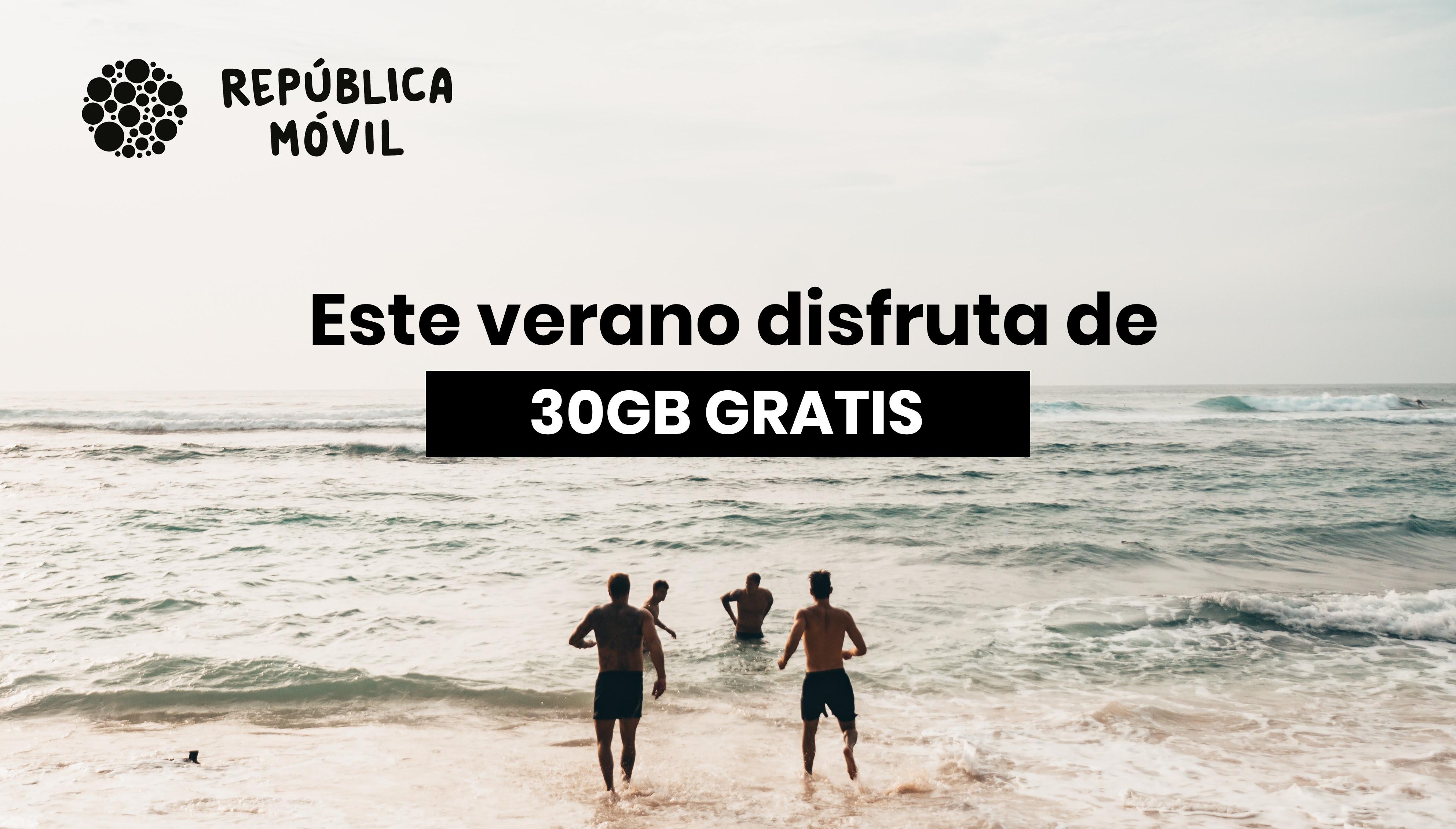 República móvil: 30GB gratis!