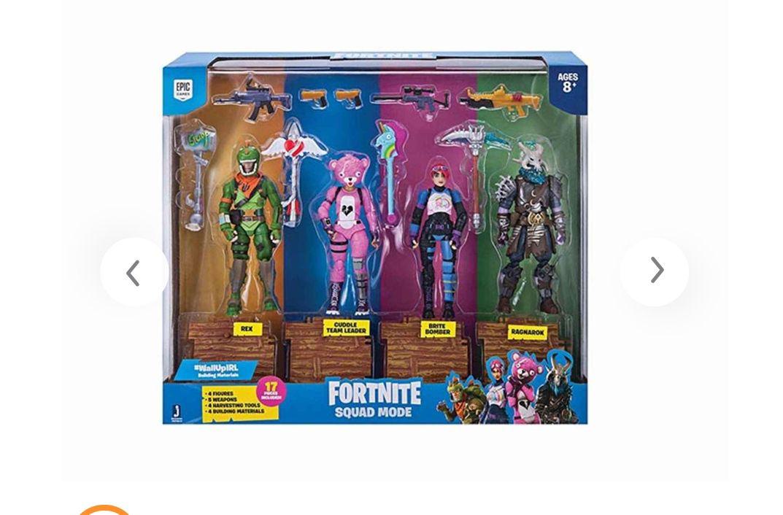 Fornite 4 Figures Pack Squad Mode Core *Mínimo histórico*