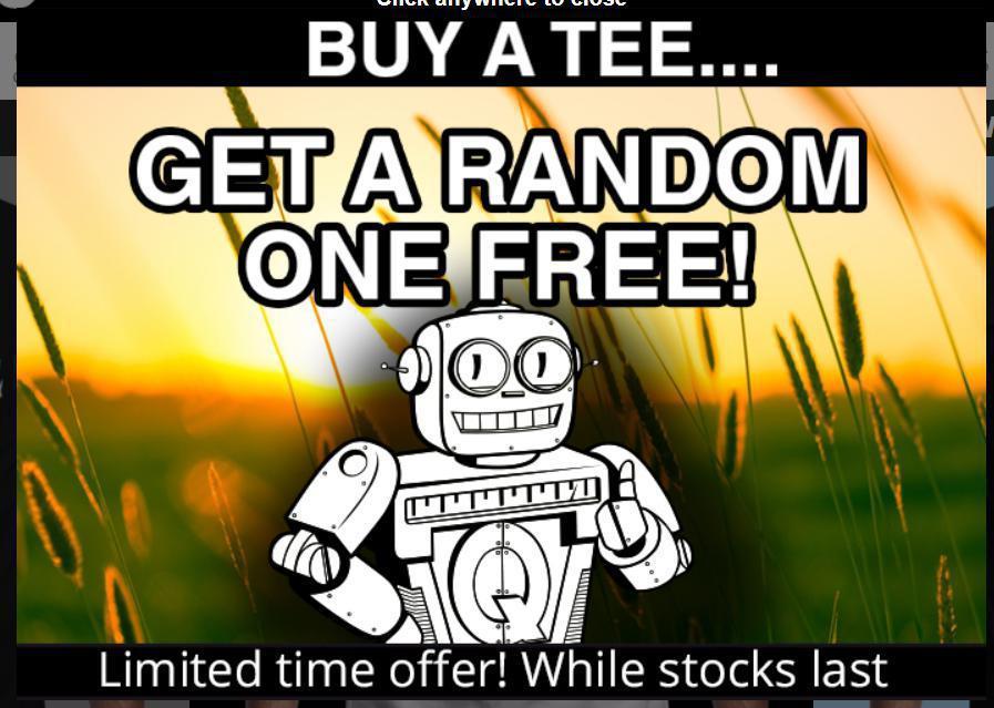 Segunda camiseta free en Qwertee