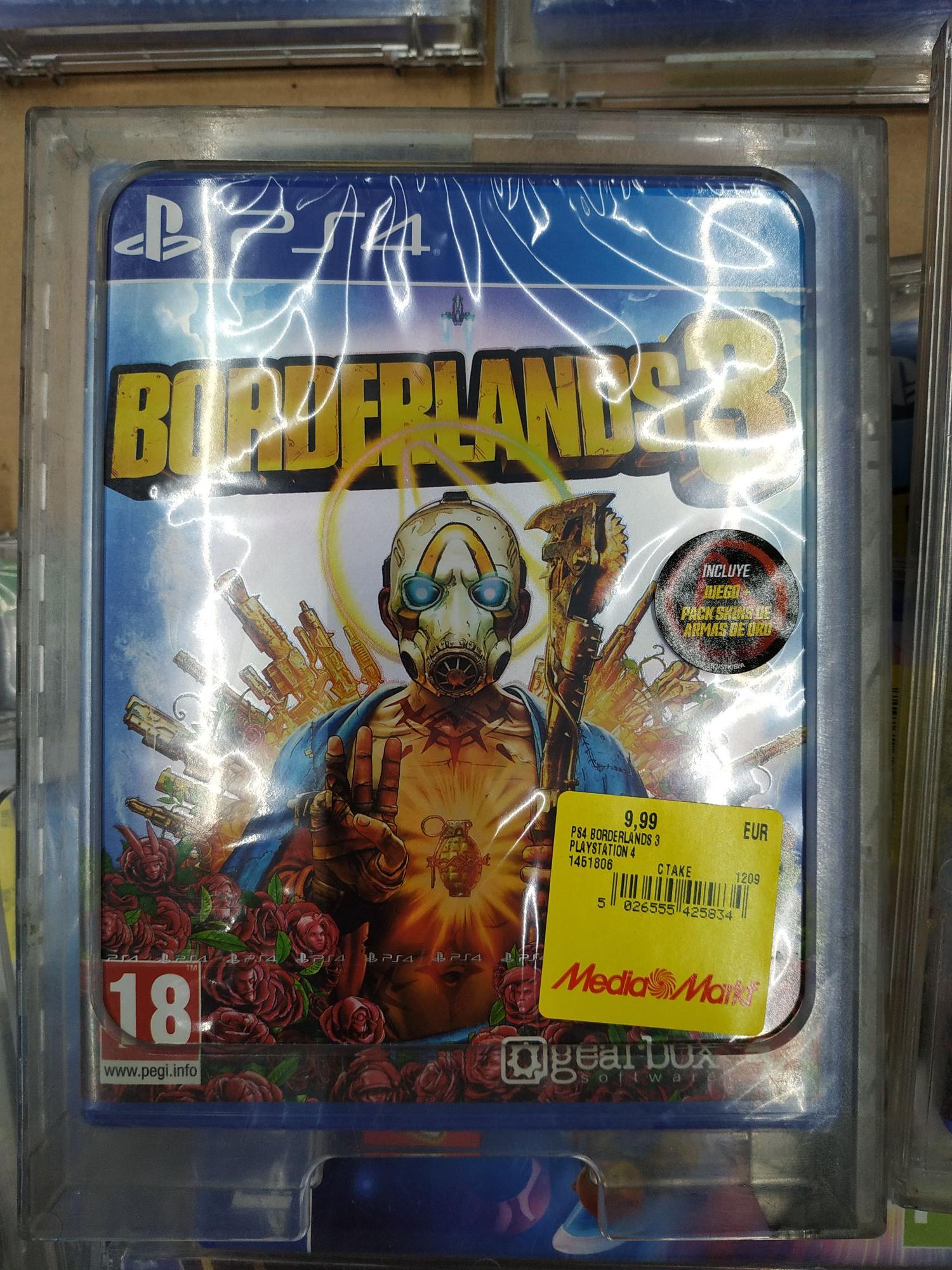 Borderlands 3 - PS4 - Físico en Mediamarkt Rivas