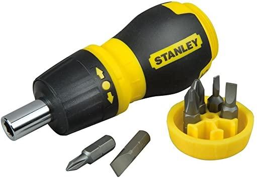STANLEY 0-66-358 - Destornillador magnético con carraca y 6 Puntas