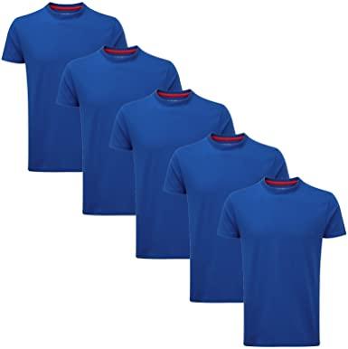 Charles Wilson Paquete 5 Camisetas Cuello Redondo Lisas talla S.