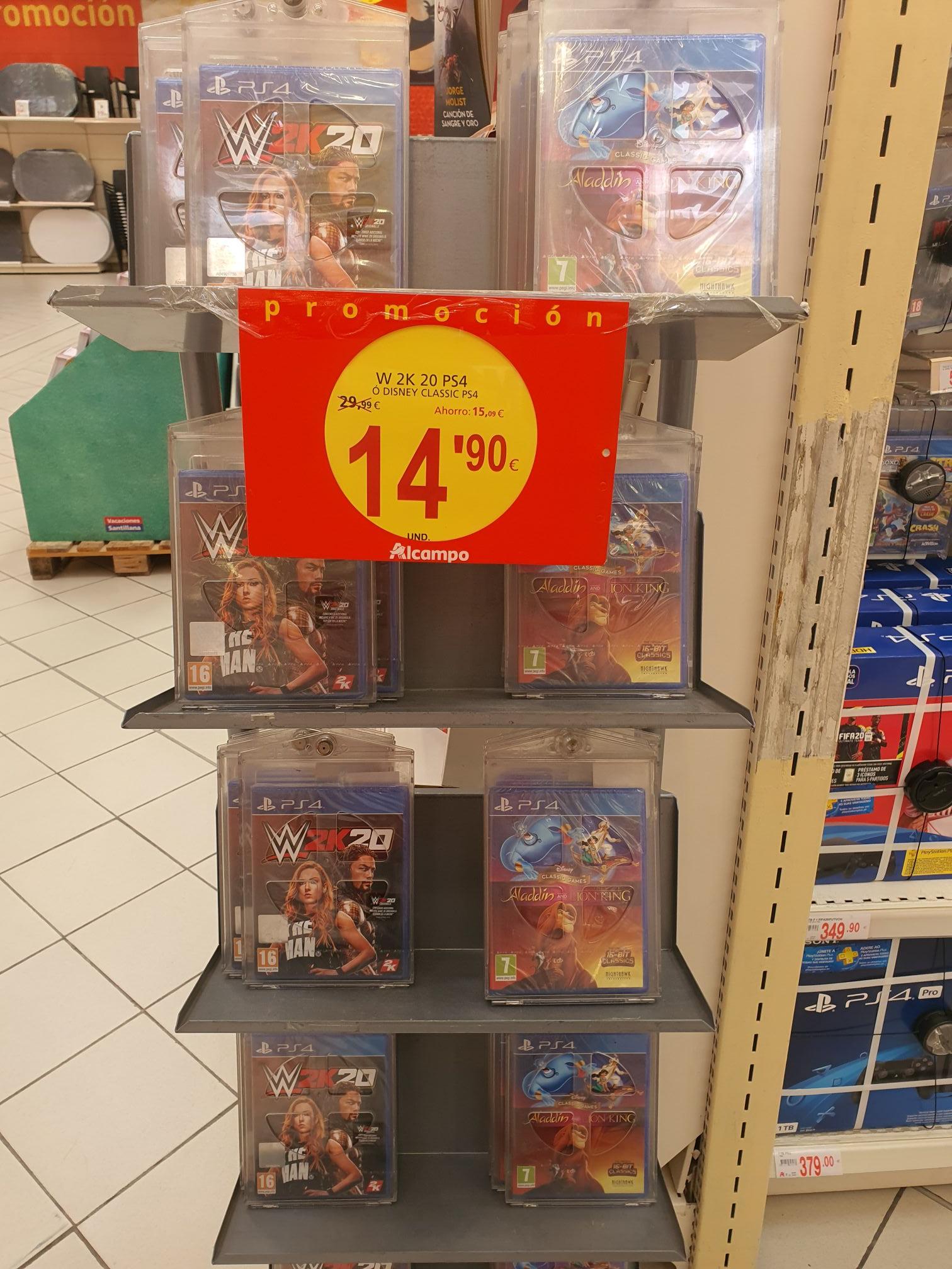 Aladdin y Rey León Disney Classic PS4// ALCAMPO C.C. BONAIRE