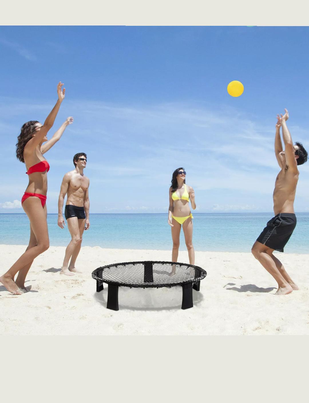 Mini Voleibol Set para 4 Jugadores para Exteriores Bolsa de Transporte Incluida