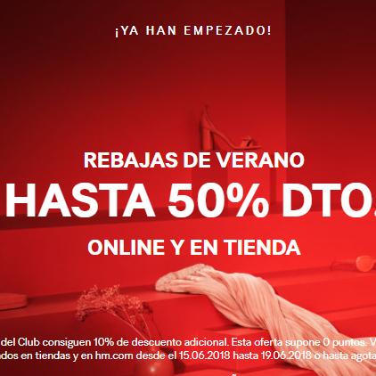 H&M rebajas hasta 50% de todo