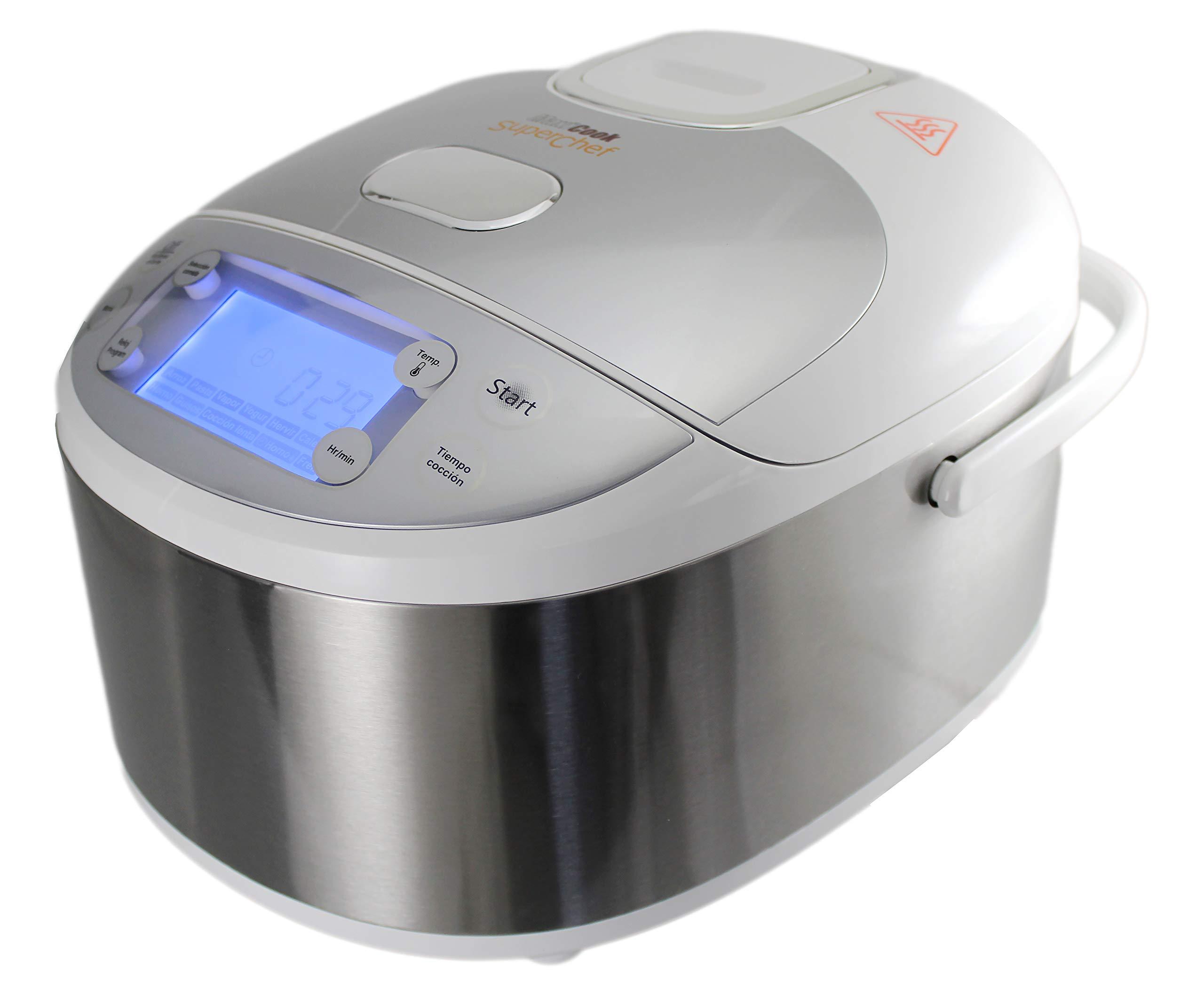 Robot de Cocina Inteligente Superchef CF105S2, 11 funciones de cocción, programable 24 horas