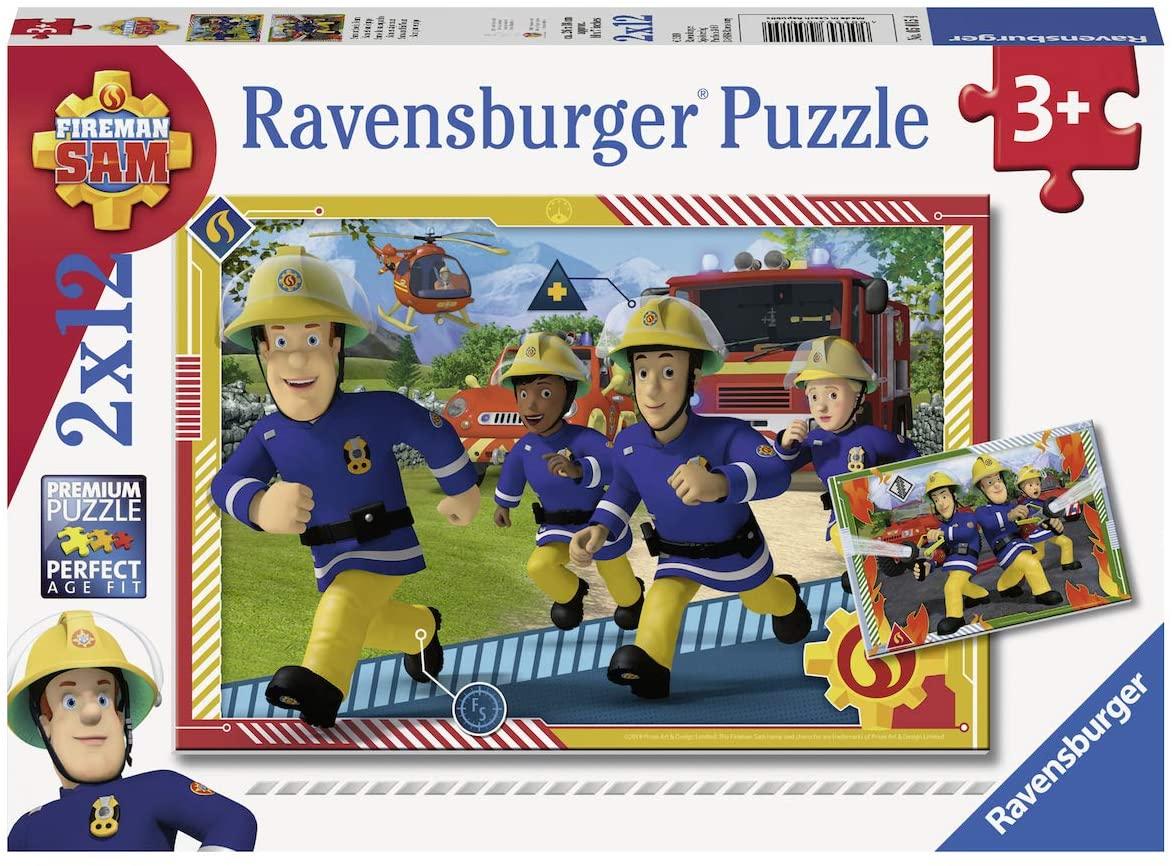 Ravensburger- Sam und Sein Team Equipo Puzle a partir de 3 años
