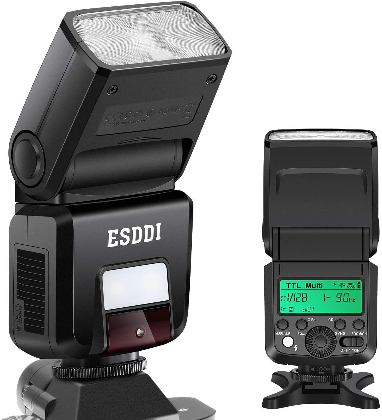 Flash cámara ESDDI con pantalla LCD para Sony