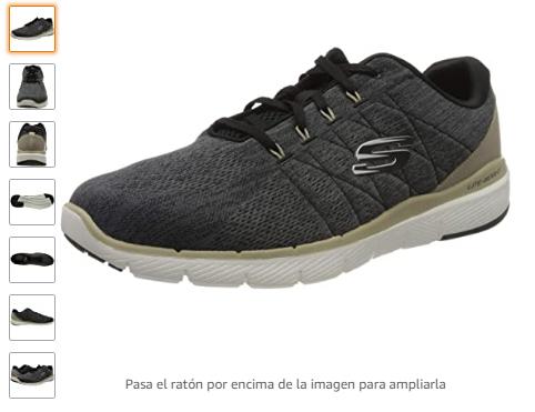 Skechers Flex Advantage 3.0-Stally, Zapatillas para Hombre talla 39.5.