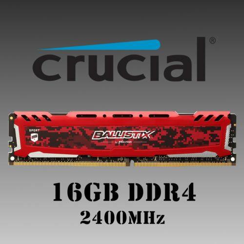 16GB DDR4 2400 DIMM-288pin CRUCIAL BALLISTIX