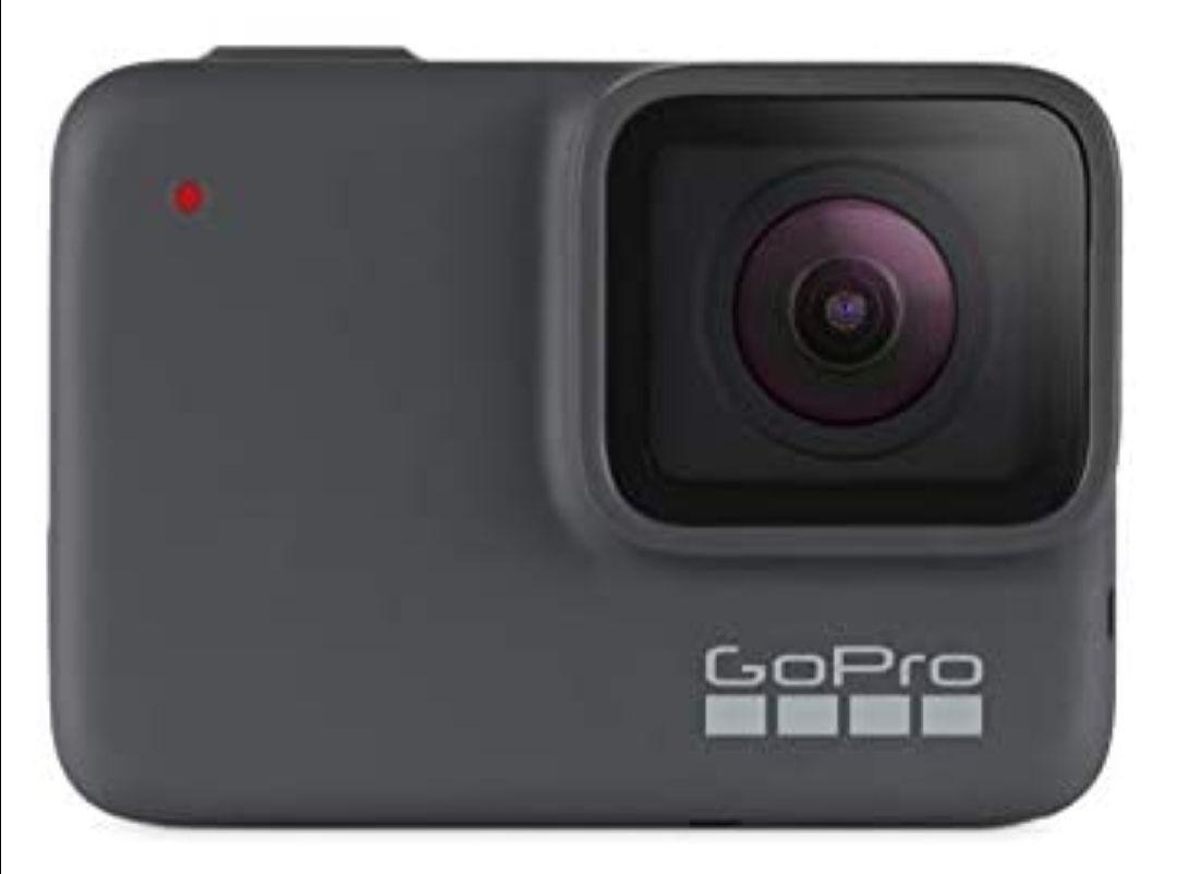 GoPro Hero7 Silver - Cámara de Acción, Sumergible hasta 10m, Pantalla Táctil, Vídeo 4K HD, Fotos de 10 MP