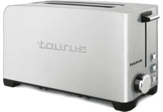 Tostadora - Taurus 960.644 MYTOAST LEGEND, 1050W, iluminación LED, tres funciones, Inox