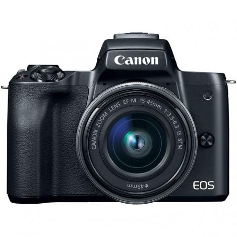 Canon EOS M50 Cámara Digital Mirrorless - Negro con Objetivo EF-M 15-45mm